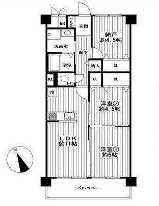 61.05m2、2SLDKのお部屋です!